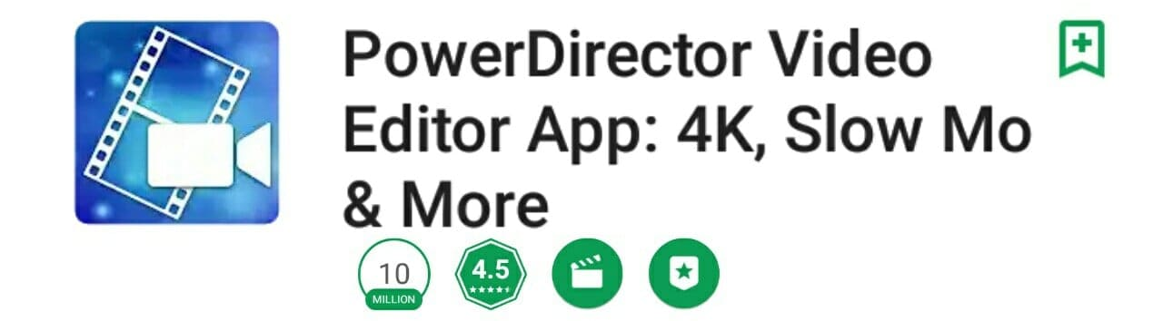 powerdirector video editing apps